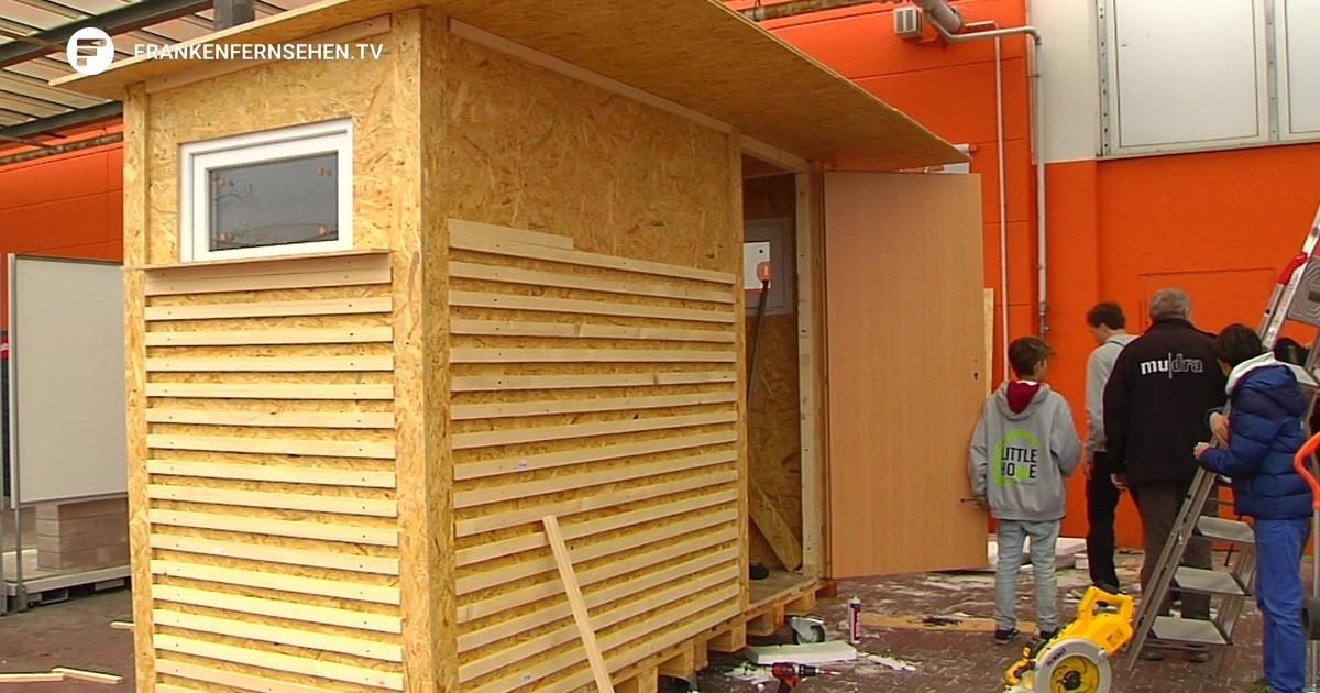 trockener und sicherer schlafplatz verein little home verschenkt minih user an obdachlose. Black Bedroom Furniture Sets. Home Design Ideas