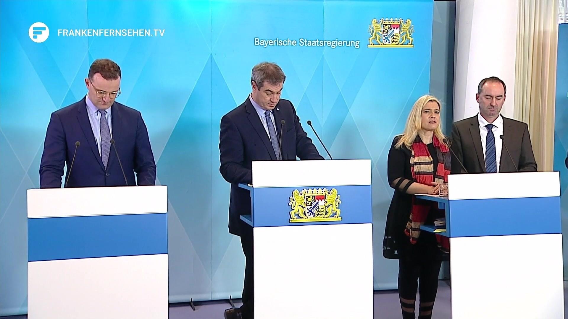 Pressekonferenz Söder, Spahn, Aiwanger und Huml über Corona Krise