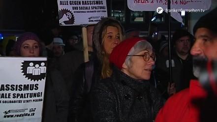 Kundgebung gegen Nügida am Kornmarkt