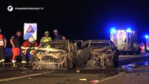 Schwerer Unfall Auf A9 Mit Fünf Verletzten Polizisten Franken