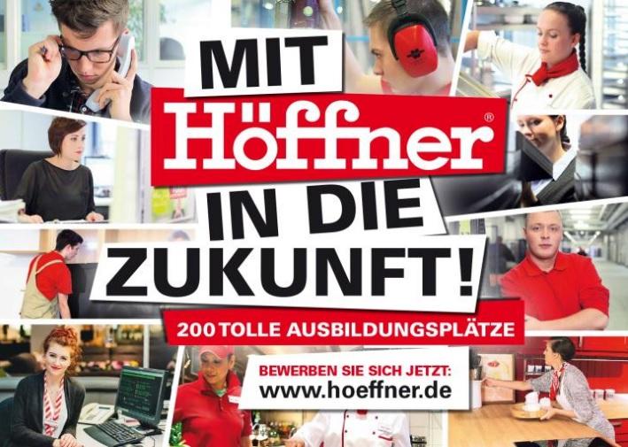 Möbel Höffner bietet wieder 200 Ausbildungsplätze in 2016 an ...
